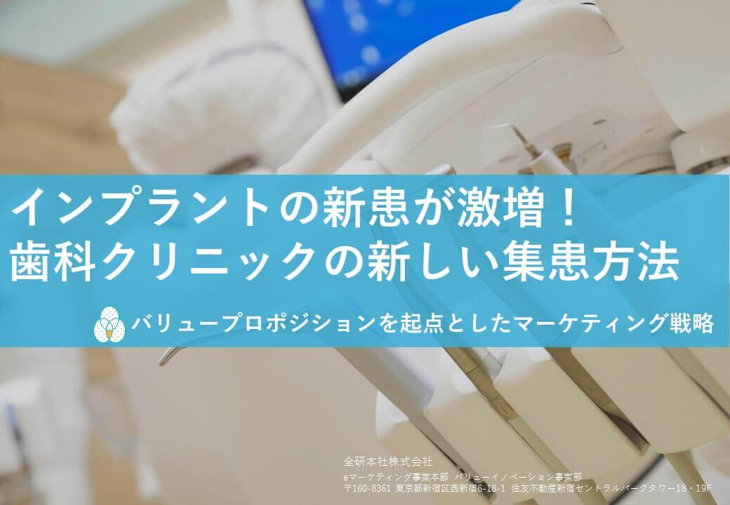 【資料】インプラントの新患が激増! 歯科クリニックの新しい集患方法