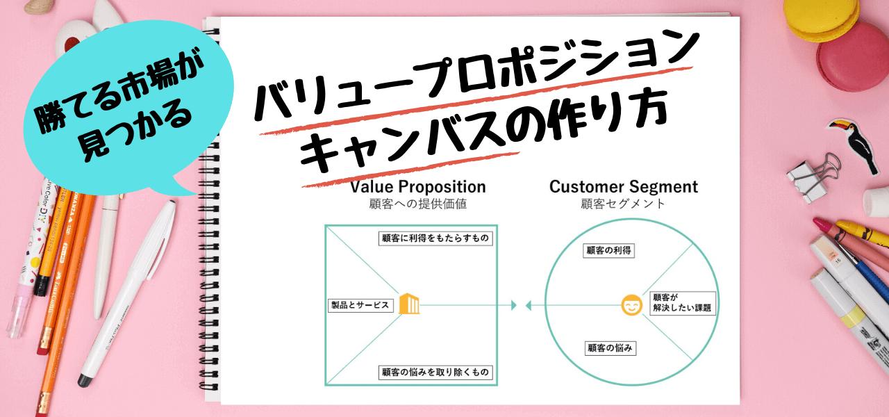 バリュープロポジションキャンバスの作り方や考えるコツを解説