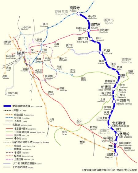 愛知の電車媒体:愛知環状鉄道線 路線図