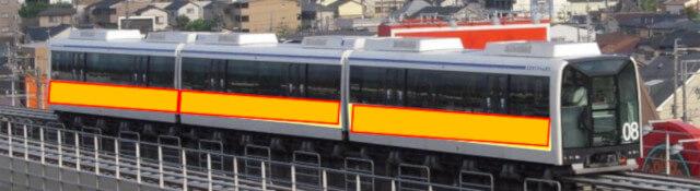 愛知の電車広告:Linimo パートラッピング