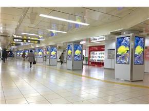 名古屋の駅広告:栄駅スクエアビジョン