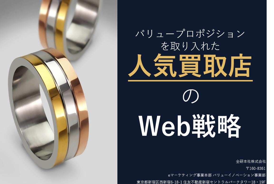 『リユース業界向け資料』<br>バリュープロポジションを取り入れた<br>人気買取店のWeb戦略