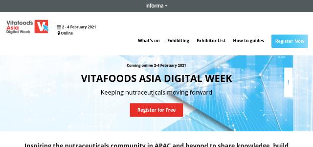 Vitafoods Asia Digital Week