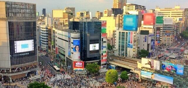 渋谷のビジョン広告