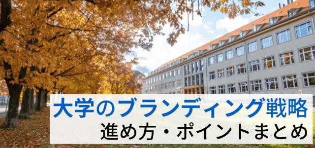 大学のブランディング戦略の進め方・メリット・重要ポイント紹介