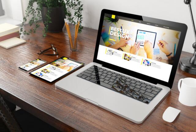 パソコン画面に表示されているにウェブサイト
