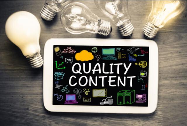 オウンドメディアの効果を上げるにはコンテンツのクオリティが重要