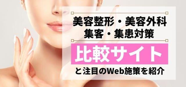 美容整形・美容外科比較サイトと注目のWeb施策を紹介